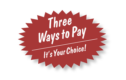 Three Ways to Pay