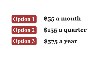 Frazer Subscription Prices